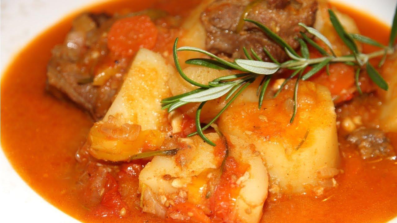 Очень вкусное и ароматное жаркое из баранины с картофелем ...