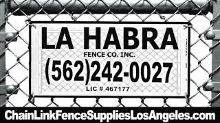 Sports Fencing Company Orange County Ca (562) 242-0027 Chain Link Fence Supplies
