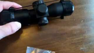 Monstrom 4 X 30 Tactical Scope AR 15 Rifle Unboxing