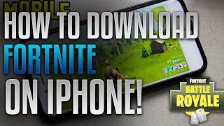 HOW TO DOWNLOAD FORTNITE ON YOUR IPHONE, IPAD, OR ANDROID FOR FREE!!