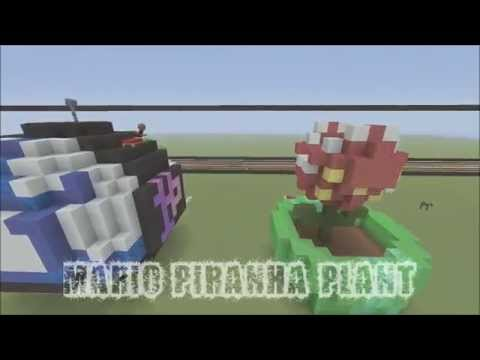 MineCraft 3D Pixel Art Tutorial - Piranha Plant From Mario