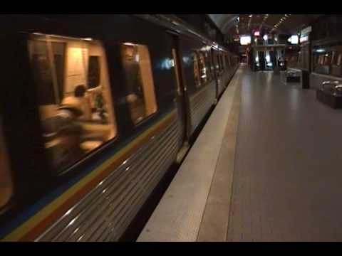 Marta Gold Line Train Departs Peachtree Center Station.MP4