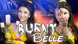 burnt belle beauty and the beast makeup tutorial glam gore disney princess