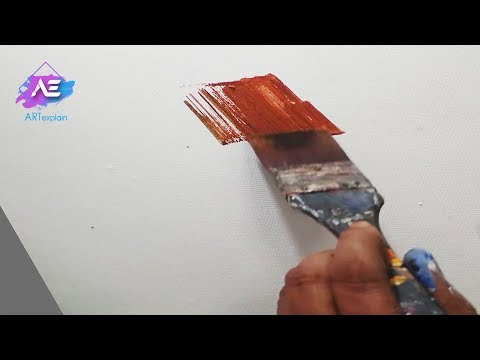 Abstract painting | acrylics Blending with brush and palette knife | Demonstration | Art explain