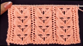 How To Knit Beautiful Lace Pattern for Cardigans, Pullovers, Scarves, Shawls, Baby Set Hindi/English