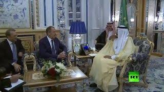 الملك سلمان يستقبل لافروف في جدة