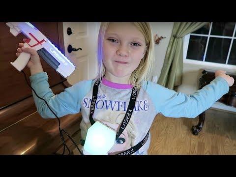 SHE'S SHOT!!! | LASER X BLASTER TRICK SHOTS