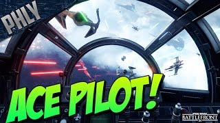 TIE FIGHTER ACE! AIR SUPERIORITY - Star Wars Battlefront Gameplay