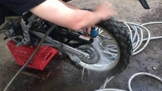 How To Clean & Lube Dirtbike Chain