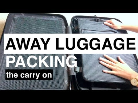 AWAY Luggage Packing   The Carry On   This or That