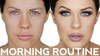 5 MINUTE MORNING ROUTINE FOR OILY SKIN & ACNE!!