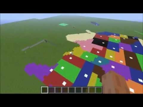 Pixel Art United States In Minecraft YouTube - Minecraft us map