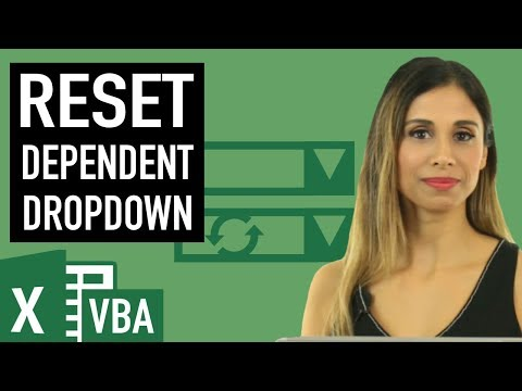 Reset Dependent Drop-down in Excel (with a tiny bit of VBA)