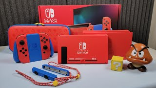 Mario Red & Blue Edition Switch: Unboxing, Color Comparisons