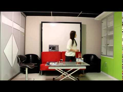 table et lit escamotable sur mesure nantes youtube. Black Bedroom Furniture Sets. Home Design Ideas