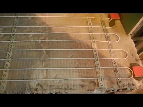 Как сделать электрический теплый пол ч.2