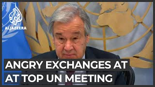 World in disarray: Angry exchanges at top UN meeting on COVID-19