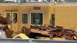 【下関総合車両所にて】105系0番台の廃車体の様子