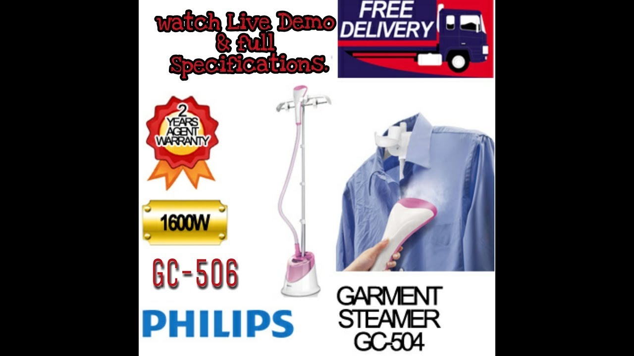 Philips Garment Steamer Gc 502504506 Specifications Demo Ii Gc504 Clothes And Creativity