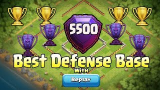 CLASH OF CLANS - TH11 BEST DEFENSE WIN BASE 2017 WITH (5500 TROPHY)REPLY | BACK TO BACK DEFENSE WIN