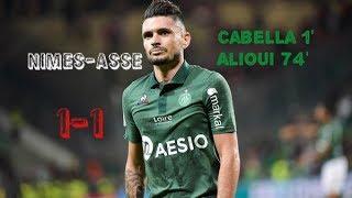 Nîmes Olympique - AS Saint-Etienne 1-1 Le résumé
