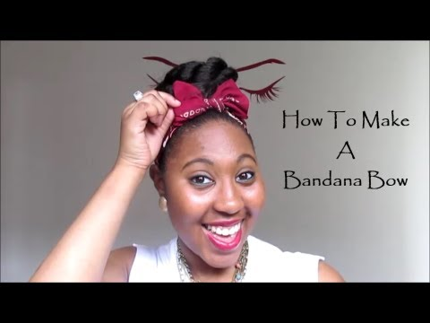 how to make a simple hairstyle at home : How To Make A Bandana Bow - YouTube