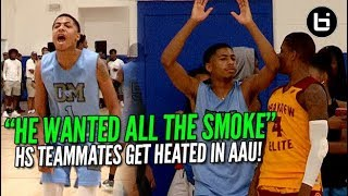 HIGH SCHOOL TEAMMATES WENT AT IT IN AAU! Ballislife Highlights