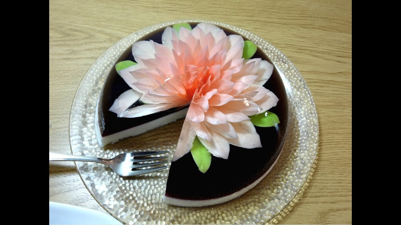 How to make a simple gelatin art cake youtube