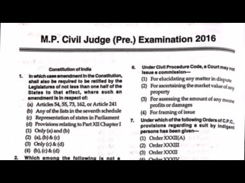 M.P. Judiciary P.T. Paper Dissection