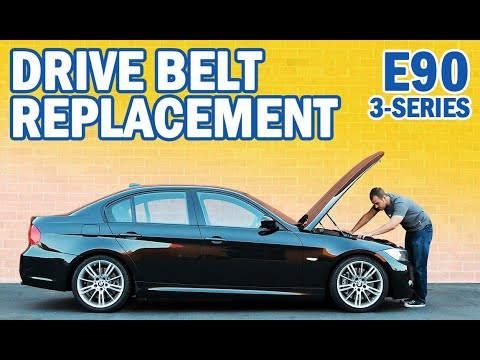 Bmw E90 3 Series Drive Belt Replacement For 335i 325i 325xi 330i 330xi And 328i Youtube