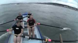 5 OLD MEN IN A SURF ROWING BOAT 2ND RACE