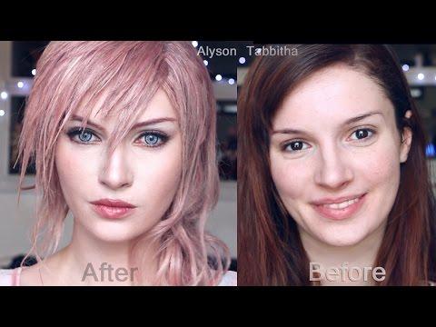 Lightning Final Fantasy  Makeup Transformation - Cosplay Tutorial
