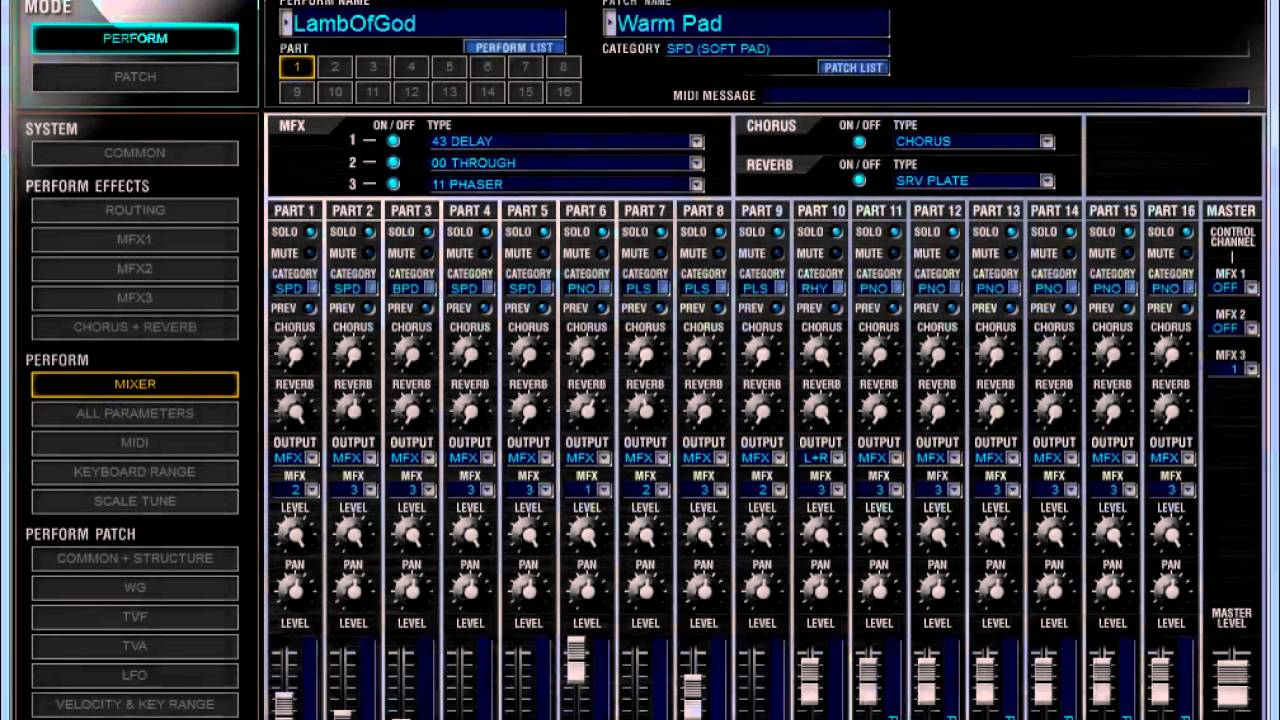 Saving a custom perform file onto your Juno using Roland\u0027s Juno-di Editor  software