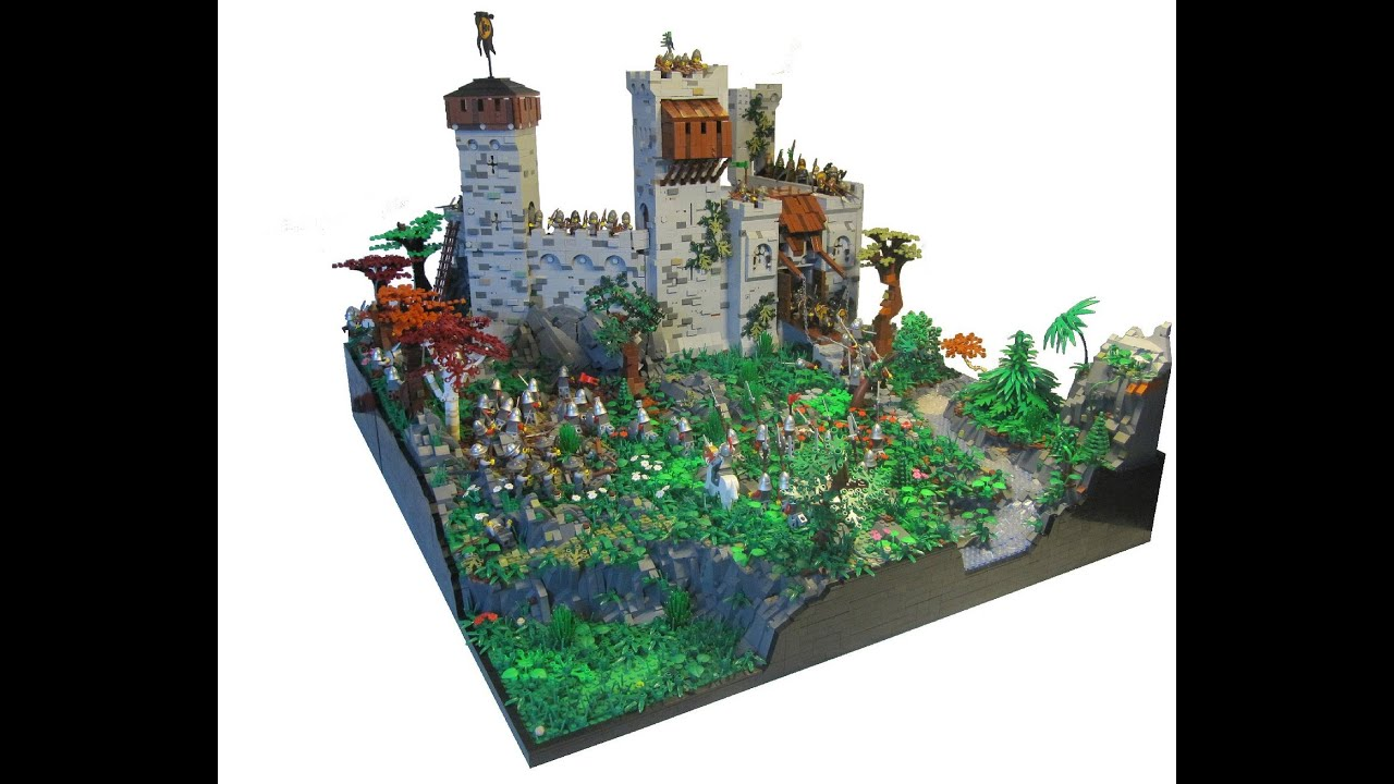 Lego Castle Moc Bulls Head Castle Youtube