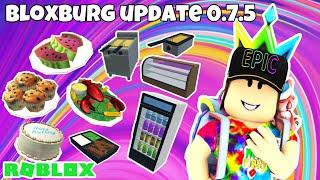 ROBLOX | Bloxburg New Update 0.7.5 | Mukbang & Bloopers!