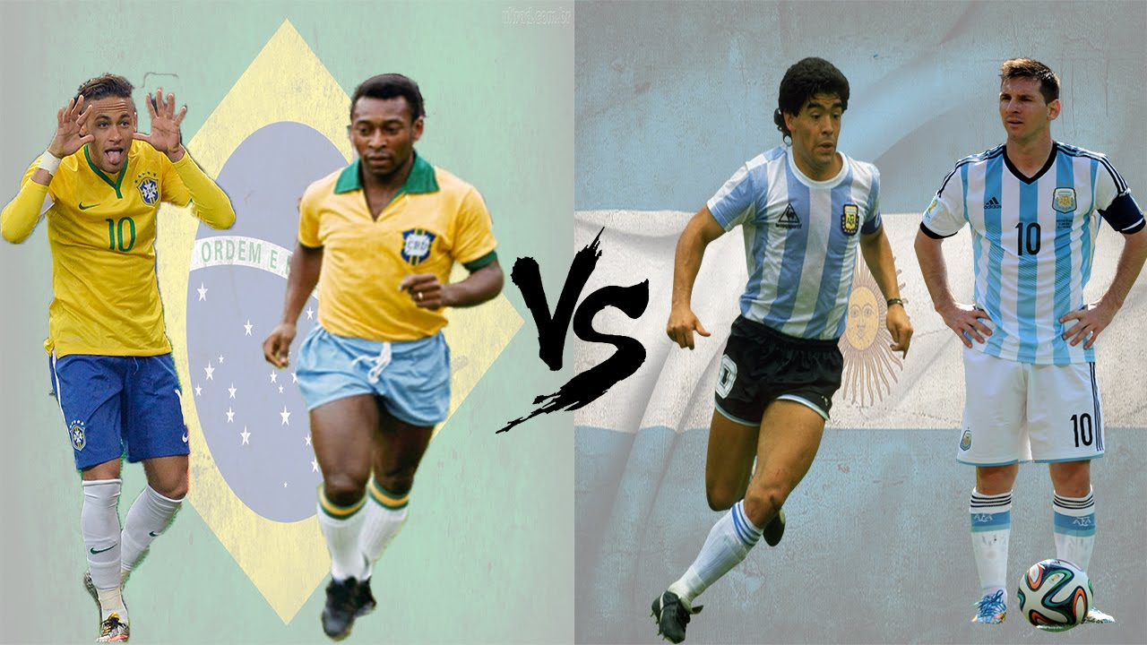 Argentina Vs Brasil: ★Pelé & Neymar X Maradona & Messi★ Brasil X Argentina