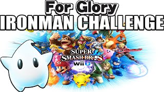 Win with EVERY Character! | For Glory IRONMAN CHALLENGE (SSB4) ~ 50K Sub Special