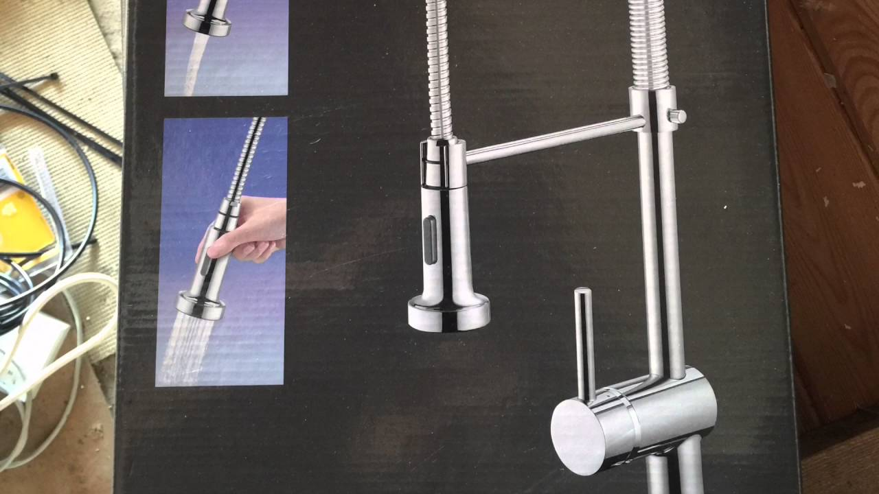 Install a new Spiral Kitchen Mixer Tap - YouTube