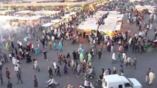 Maroc - Marrakech - La place Djema El Fna .mov
