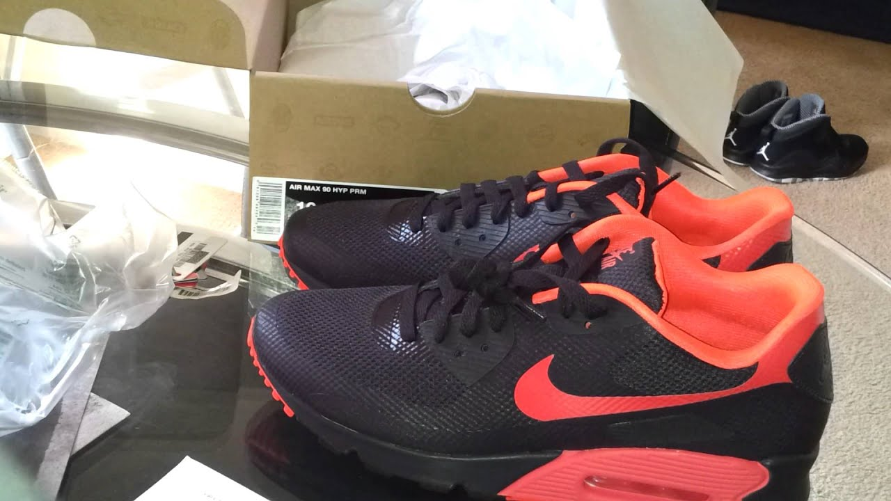 sports shoes c9d2f 77f21 Air max 90 hyperfuse unboxing
