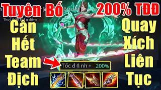 [Gcaothu] Veres Thủy Thần Kiều Diễm quay xích liên tục khi lên 200% tốc đánh - Tuyên bố cân hết địch