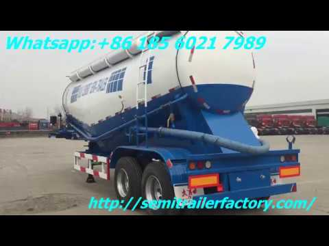 2 axle Bulk cement tanker , Bulk powder tanker with BPW axle China Cement silo trailer for sale