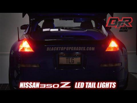 Install LED Brake Light Tail Light Bulb Upgrades for 2003-2005 Nissan 350z | Black Top Racing