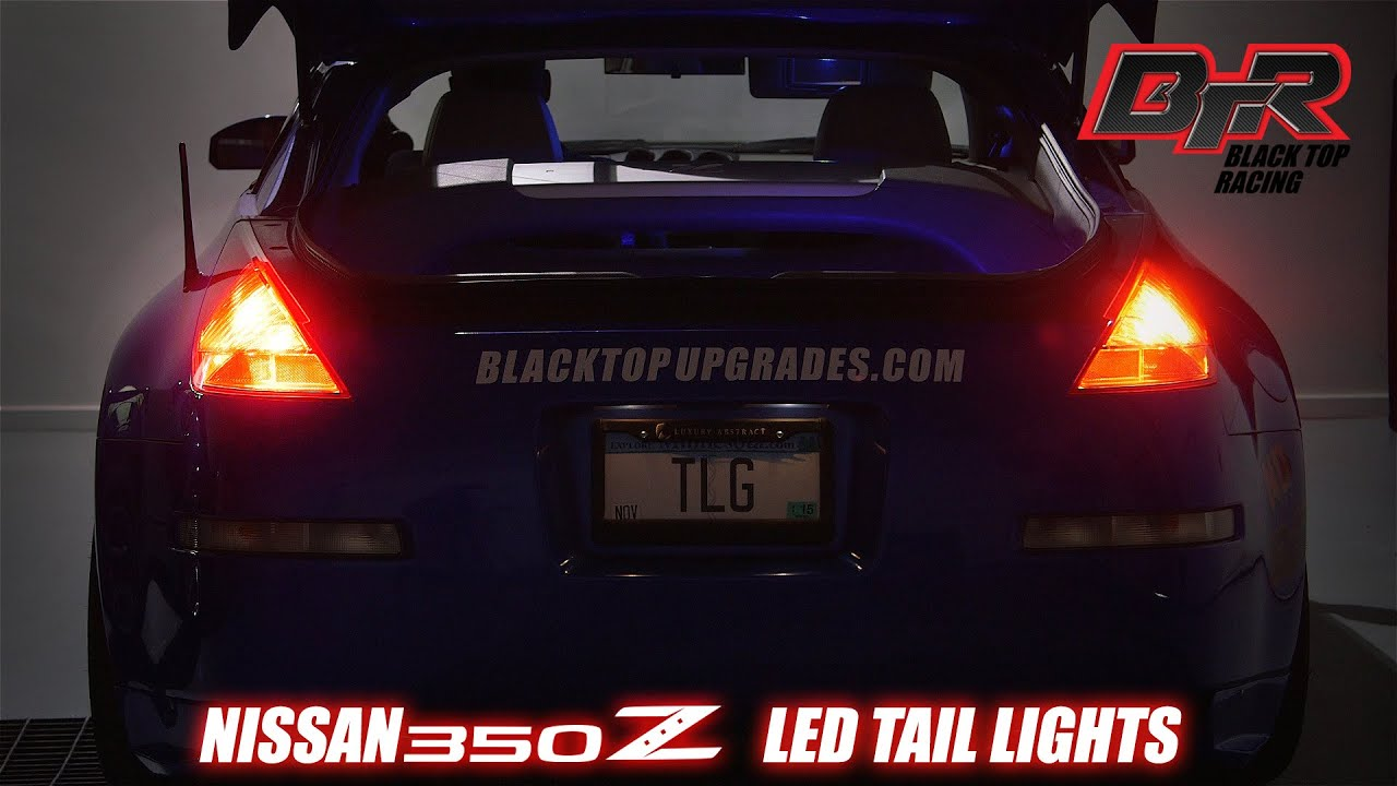 maxresdefault install led brake light tail light bulb upgrades for 2003 2005 350z tail light wiring diagram at webbmarketing.co