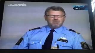 Police officer Ulf Boström from Gothenburg, Sweden at Ahmadiyya Muslim convention