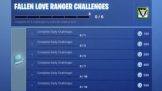 "*NEW* DARK LOVE RANGER Skin in Fortnite! - ""Dark Cupid"" Challenges (FREE Dark Love Ranger Skin)"