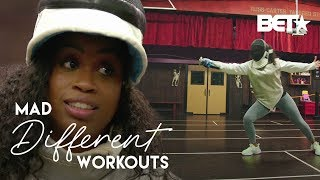 Capri Curves Engages In A Sword Battle For Her Latest Workout! | Mad Different Workouts
