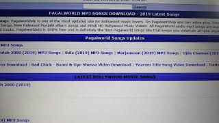 #1 Pagalworld MP3 Songs Website for Latest Bollywood Songs