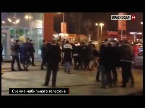 Драка с поножовщиной произошла у развлекательного центра в Краснодаре