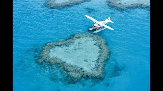 Natural World Wonder: an aerial view of Australia's Great Barrier Reef by helicopter